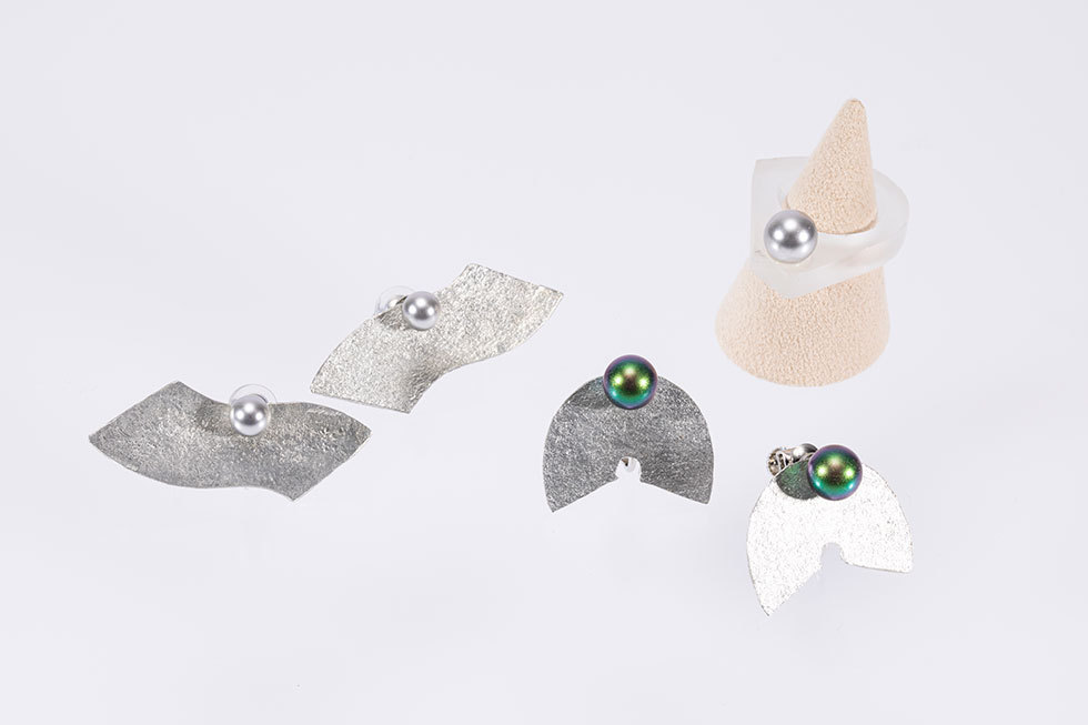 miminari wave -S/e / miminari -M/e / glass glass Ring