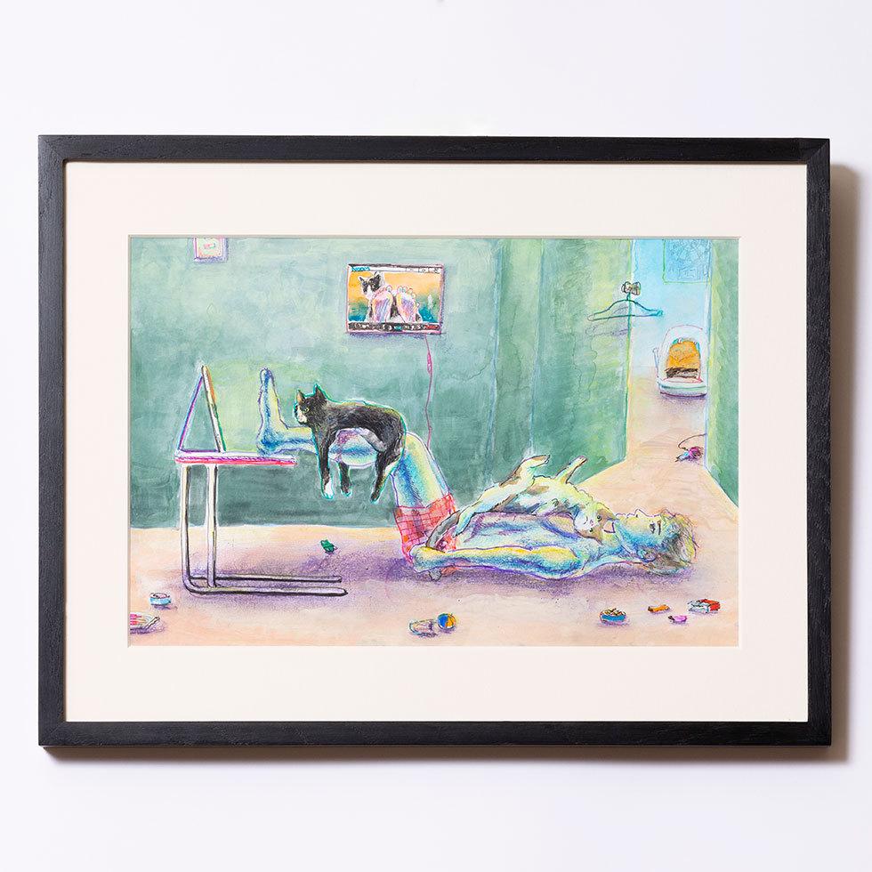 猫たちとステイホーム(オンライン会議中)
