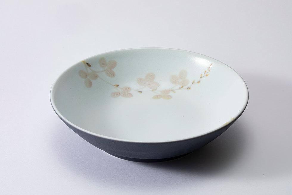 瑠璃釉銀彩鉢