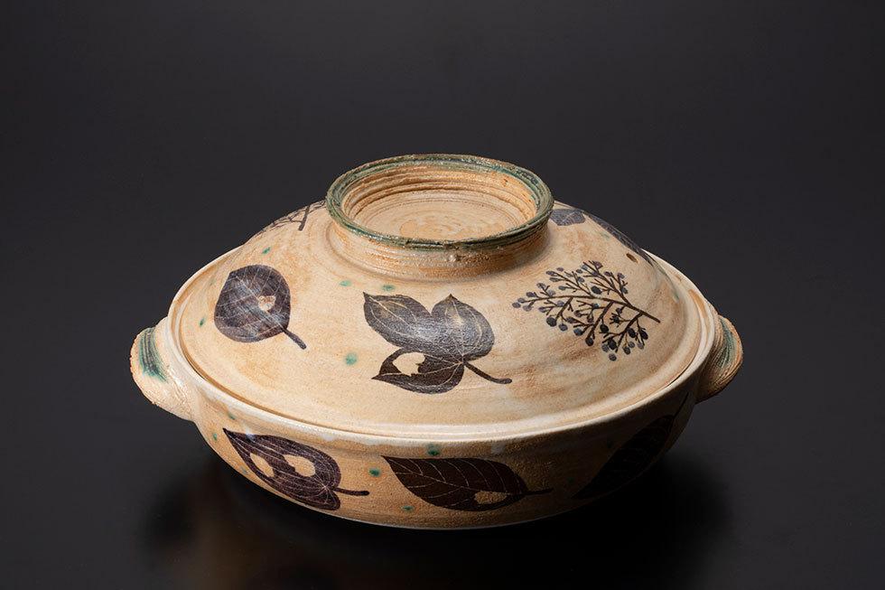 木の葉文大土鍋