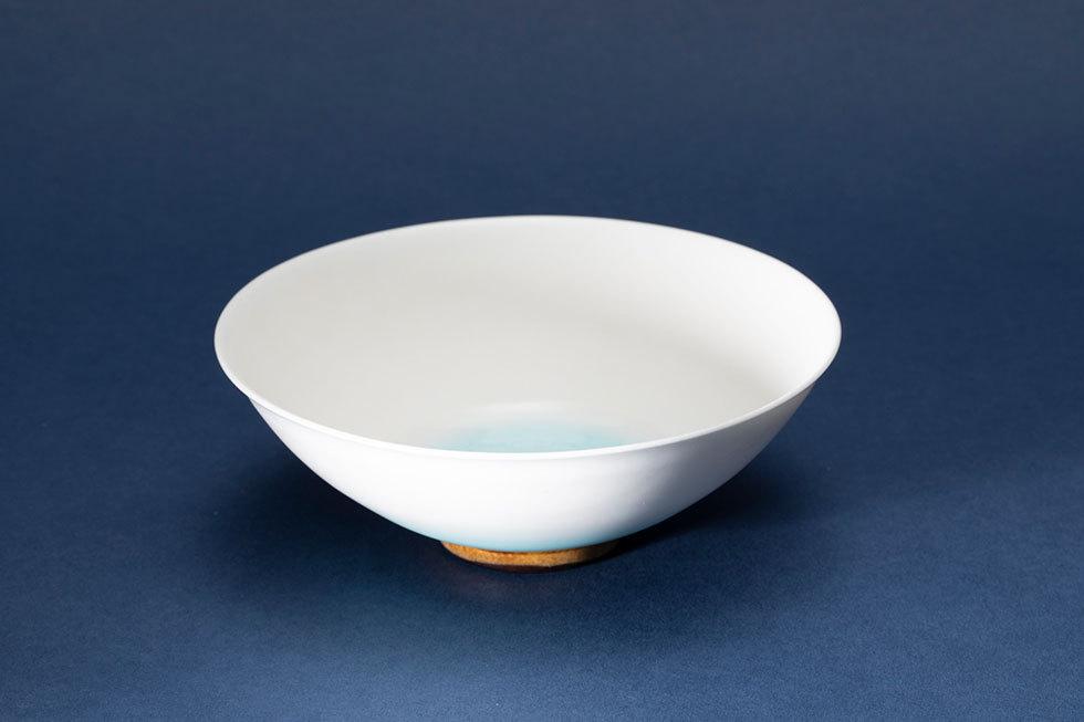 釉彩 華茶碗(空)