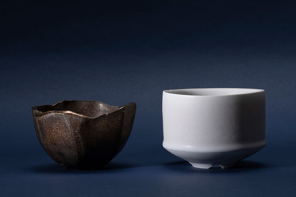 (左から) 面取りマンガンpot / shiro pot