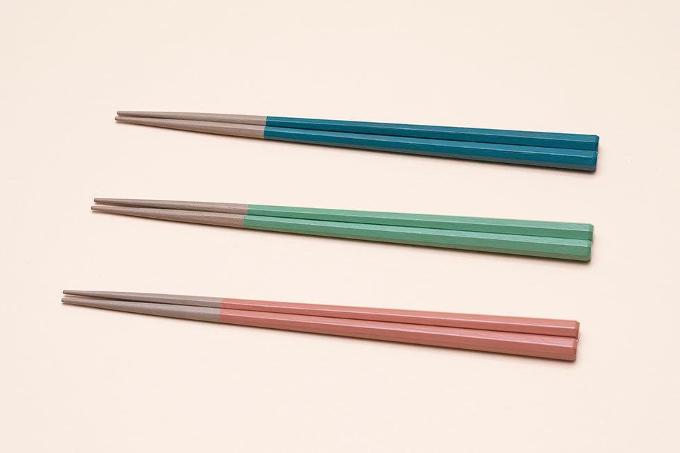 色漆8角箸