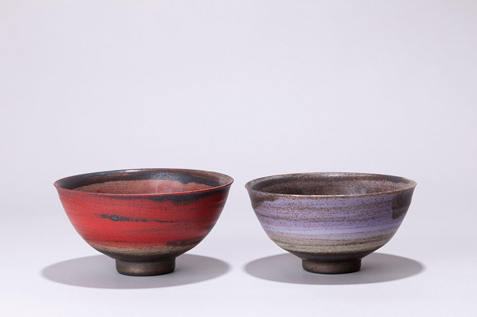 (左から) SUMIKAZE -墨風炎華-茶碗/ SUMIKAZE -墨風-茶碗/