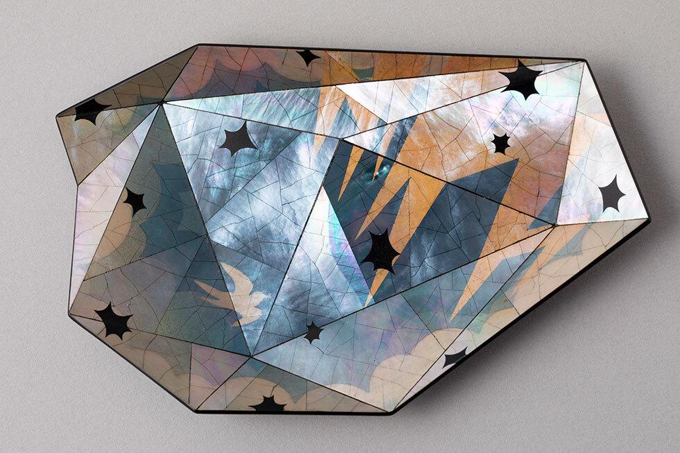 螺鈿小皿 電気石