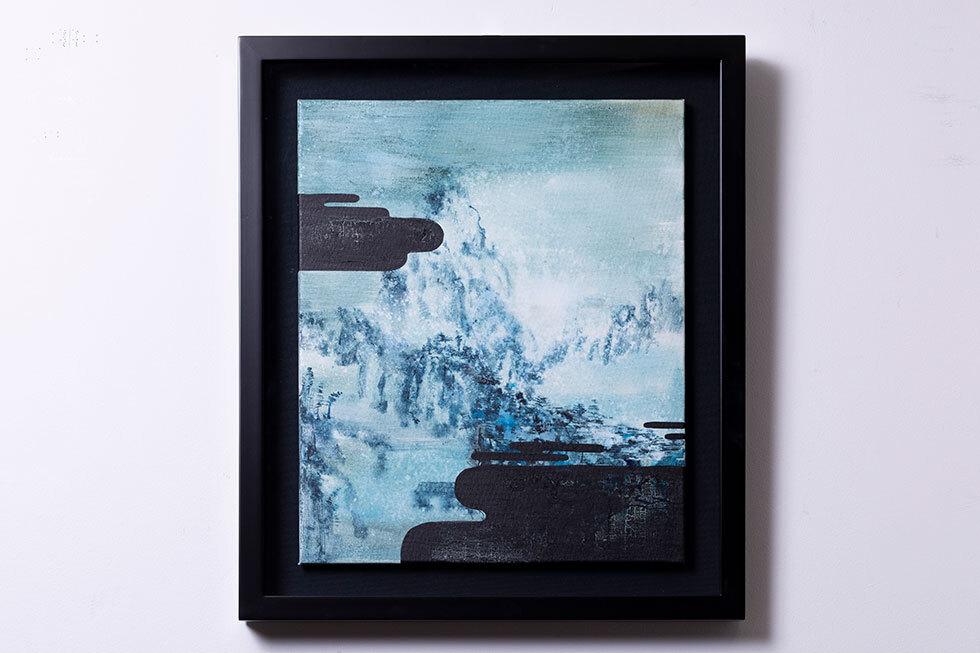 雪の山水図