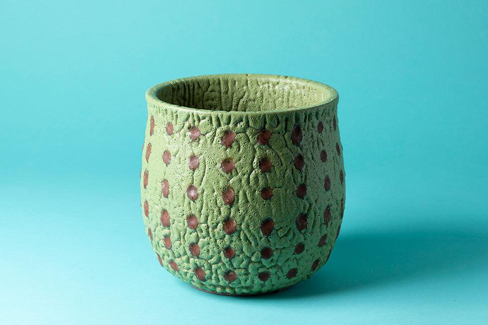 蛟龍瓷植木鉢