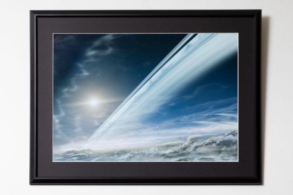土星・大気上層部から見たリング