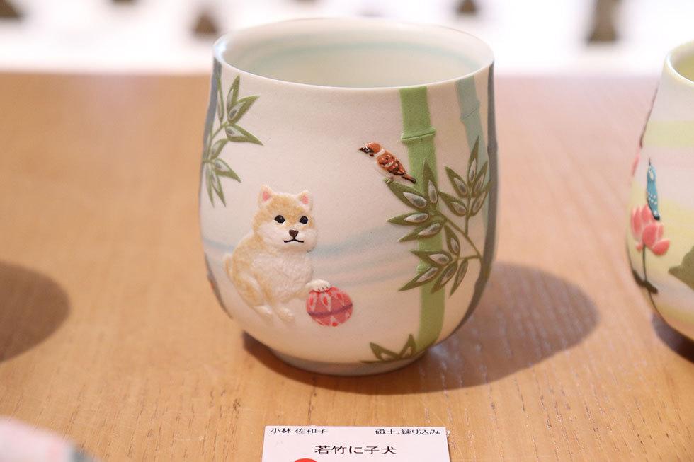 小林佐和子「若竹に子犬」(24,200円/税込)